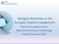 Diploma Supplement and Europass - EURIreland.ie