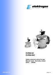 EVRM-NC EVRM-6NC Safety solenoid valves for gas Manual reset
