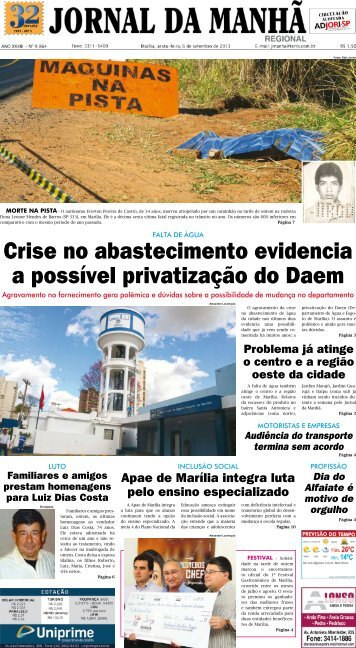 Crise no abastecimento evidencia a possível ... - Jornal da Manhã