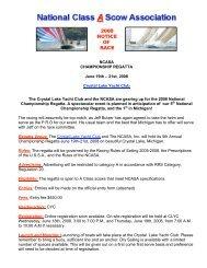NCASA CHAMPIONSHIP REGATTA June 19th - Inland Lake ...