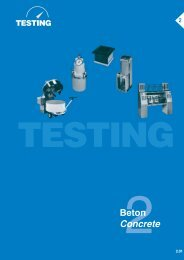 Beton Concrete - Testing Equipment for Construction Materials