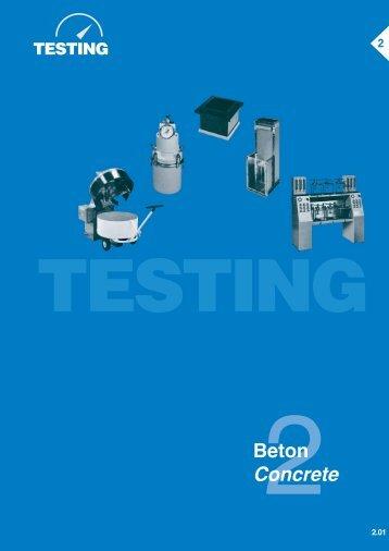 Beton Concrete - Testing Equipment for Construction Materials