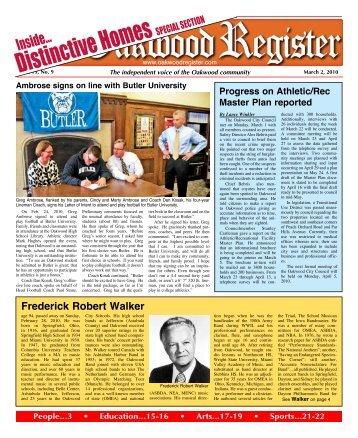 Distinctive Homes - the Oakwood Register
