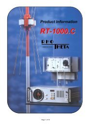 RT-1000 Product Info