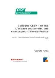 Actes du colloque CESR AFTES - ville10d