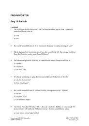 PROVUPPGIFTER Steg 10 Statistik