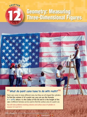 Chapter 12: Geometry: Measuring Three-Dimensional Figures
