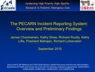 The PECARN Incident Reporting System - Critical Path Institute