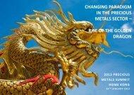 changing paradigm in the precious metals sector - Bromius Capital
