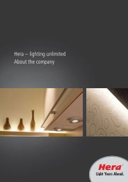 Hera – lighting unlimited About the company
