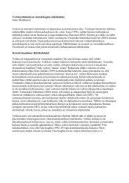 Verkkotutkimuksen metodologisia näkökulmia