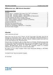 Informix Newsletter 01/2008 - The Informix Zone