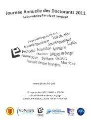Actes - Laboratoire Parole et Langage - Université de la Méditerranée