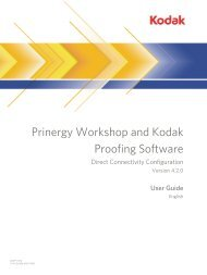 Prinergy Workshop and Kodak Proofing Software