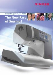 The New Face of Sewing ! - Singer
