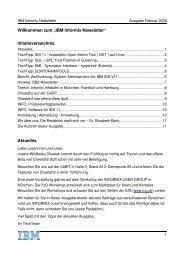 Informix Newsletter 02/2008 - The Informix Zone