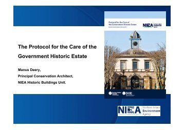 2 - HBU Protocol for the Care of the Government Historic Estate.PPT
