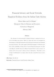 Financial Literacy and Social Networks Empirical Evidence from the ...