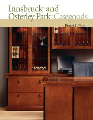 Innsbruck™ and Osterley Park™ Casegoods - The Office Furniture ...