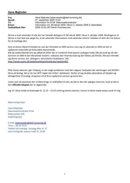 Hans Majlinder - Dansk Taekwondo Forbund