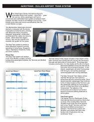 aerotrain - dulles airport train system - Metropolitan Washington ...