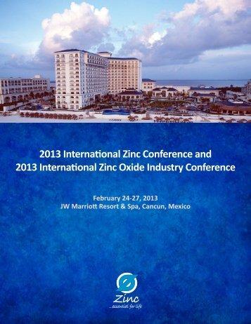 2013 International Zinc Conference and 2013 International Zinc ...