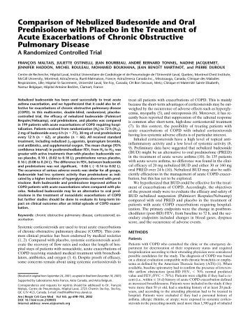 Comparison of Nebulized Budesonide and Oral Prednisolone with ...