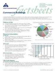 Commercial Buildings - Center for Sustainable Systems - University ...
