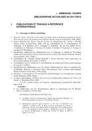 emmanuel tourpe bibliographie actualisee au 03/11/2012 i ... - IET
