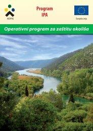 Brošura: Operativni program za zaštitu okoliša - Ministarstvo zaštite ...