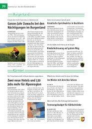 70 Burgenland Kärnten Zwei neue Hotels und 120 Jobs mehr für ...