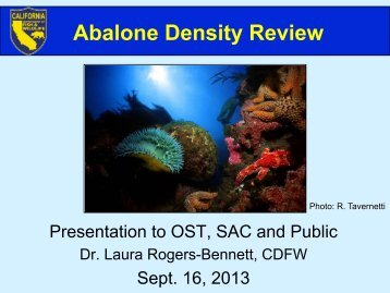 Abalone Density Review - Ocean Science Trust