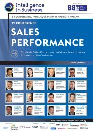 SALES PERFORMANCE - Blue Business Media