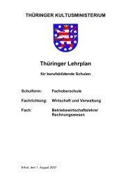 Fachoberschule Fachrichtung: Wirtschaft und Verwaltung Fach - Thillm