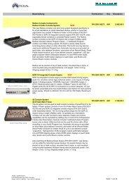 Axia Preisliste 1. November 2011 - bei Thum + Mahr!