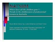 Format of the presentation - NATSEM - University of Canberra
