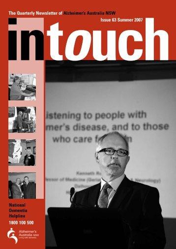 Issue 63 Summer 2007 (PDF) - Alzheimer's Australia