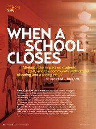 Minimize the impact on students, staff, and the community with ...