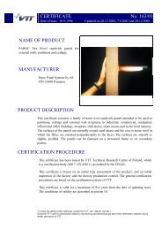 CERTIFICATE No 163/01 NAME OF PRODUCT ... - Paroc.com