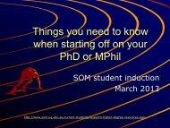 Postgraduate Coordinator's Slides - School of Medicine - University ...
