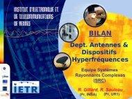 Bilan Équipe Systèmes Rayonnants Complexes (SRC) - IETR