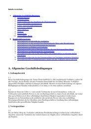 A. Allgemeine Geschäftsbedingungen - Tennis-Point.de
