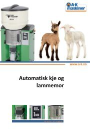 Automatisk kje og lammemor - NOA Maskin AS