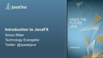 JavaFX is - Jfokus
