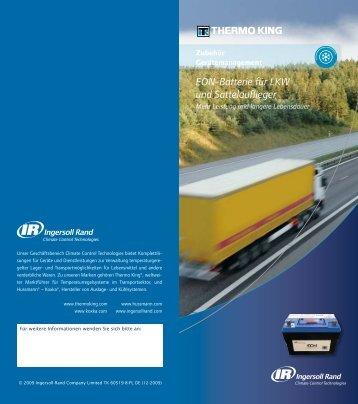 EON-Batterie für LKW und Sattelauflieger - THERMO KING SÜD