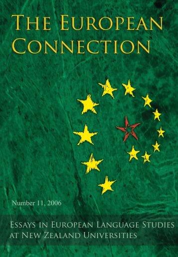 Essays in European Language Studies at New Zealand Universities