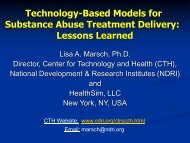 Technology-based Models - National Cannabis Prevention and ...