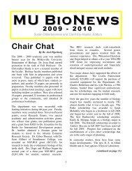 MU BioNews MU BioNews Chair Chat - Millersville University