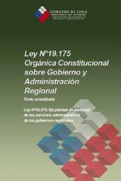 ley nº19.175, organica constitucional sobre gobierno y ...