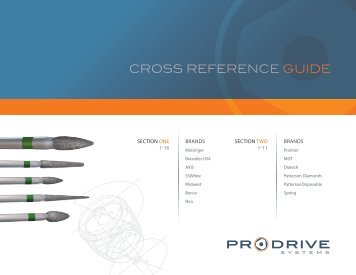 CROSS REFERENCE GUIDE - ProDrive Systems